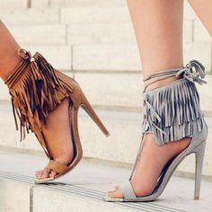 Image result for high heel wedge loafers with fringe tassels