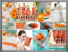 David's Bridal BM Colors... :  wedding bridesmaids colors davids bridal Orangeaqua