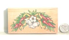Garlic Stamp stamping paper goods Craft Supply by TheSupplyit