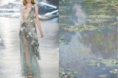 Hi everyone! I'm glad to tell you that I've been interviewed by Marie  Claire Italia and I've been asked to choose 5 of my favourite Spring  2015 looks to match! Check out the article with this and another  exclusive post I created for them HERE :)Rodarte Spring 2015   Water Lilies (series) by Claude Monet