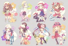 Female Main Pokemon Characters with Eeveelutions