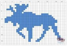 knitted moose pattern - Google Search
