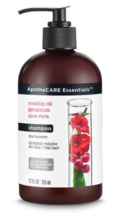 ApotheCARE Essentials The Booster Shampoo, CVS, $12.99  Launched by Unilever at the end of 2017, ApotheCARE Essentials is especially affordable (everything retails from $10.99to $12.99!) and the whole line is free of silicones, parabens, and dyes is it's  volume-boosting Rosehip oil, geranium, and aloe vera give fine and flat hair a much appreciated, last-all-day type of lift