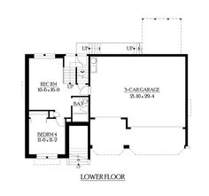Lower Floor Plan of Traditional   House Plan 87548