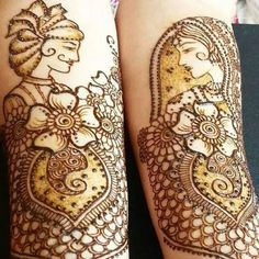Dulha Dulhan Mehndi Design for Bride on hands