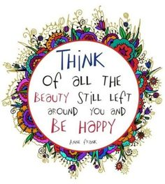 Think and be happy...