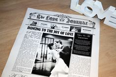 Paper Anniversary Gift Idea - A newspaper first wedding anniversary keepsake that is perfect as a traditional one year wedding anniversary gift that can be framed and displayed in your home ♥ #Newspaper #FirstWeddingAnniversary #PaperAnniversaryGift