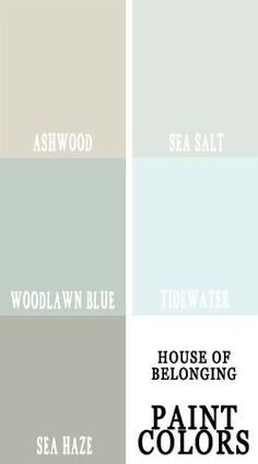 for nichole- coordinating paint colors , these would look wonderful in a home going from room to room