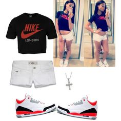 india westbrooks outfits polyvore | fashion look from August 2013 featuring white cotton shorts, red ...
