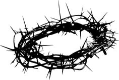 Crown of thorns artwork. Add some colorful flowers to make a beautiful tattoo.