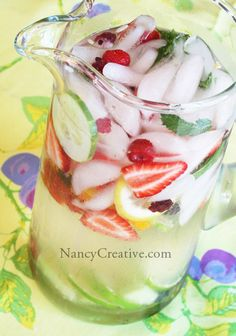 Infused Flavored Water Recipes  http://nancycreative.com/2010/06/25/feast-your-eyes-on-flavored-water/