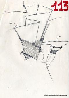 Gianfranco Ferre's Sketch