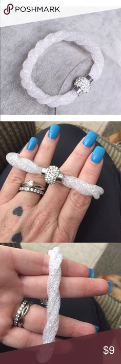 ‼️ MUST BUNDLE TO BUY ‼️   mesh bracelet Has magnetic closure w rhinestones at closure. The mesh has colored or clear crystals to match the mesh. Stunning.  Wear a few together. Jewelry Bracelets
