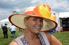 Beth Boots-Workman, 36, Catonsville, got her Preakness 2014 hat from Hats in the Belfry.
