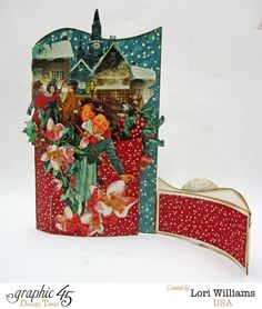 Lori Williams Designing for Graphic 45 Holiday Bendi Card with Tutorial using Christmas Carol Collection photo 3