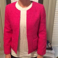 J. Crew Fuchsia Wool Blazer New with tags Fuchsia Wool Blazer J. Crew Jackets & Coats Blazers