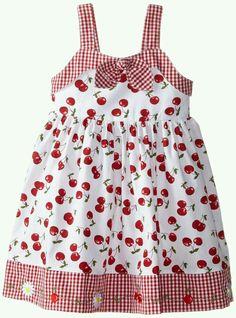 Blueberi Boulevard Girls' Little Gingham Bow Front Dress, Red, Girls Frock Design, Baby Dress Design, Baby Girl Dress Patterns, Frocks For Girls, Little Dresses, Little Girl Dresses, Girls Dresses, Baby Frocks Designs, Kids Frocks Design