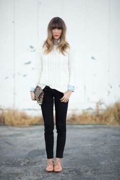 白 ニット コーデ - Google 検索 white ivory knit tops  sweater outfit