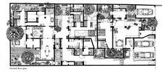 Extended Sequence of Flowing Spaces: 33rd Lane (Geoffrey Bawa's House in Colombo – Sri Lanka) – 1959-1970