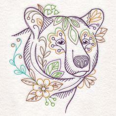 Forest Flower Bear (Vintage)
