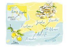 Map of the Amalfi Coast