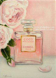 CUSTOM C is for CHANEL . . . . .Original Painting in Oil by Lara 5x7 Portrait on Etsy, $65.00