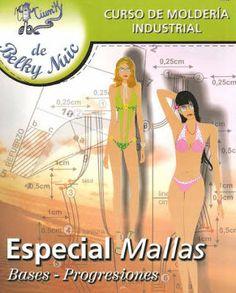 Mujeres y alfileres: Moldería Industrial - Mallas  clic en la imagen para ir a PDF para descargar