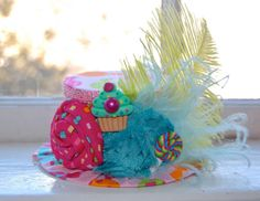 Birthday Hat  Candy Shop Mini Top Hat  by LittleLadyAccessory, $28.00