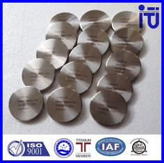 We provide high purity titanium grade 2 and Grade 5 milling blank, ,specially designed for the use of CAD CAM milling systems. This industrially manufactured material ensures consistent quality and is suitable for crowns and bridges in the anterior and posterior regions. Any type of veneering ceramics which are suitable for titanium can be used. Sizes available for Round OD 98mm disks with or without step for height between 10mm and 25mm. e-mail: hattie-titanium@hotmail.com.