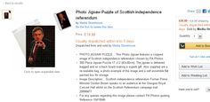 Photo Jigsaw Puzzle, Jigsaw Puzzles, Scottish Independence, Ads, Things To Sell, Puzzle Games, Puzzles