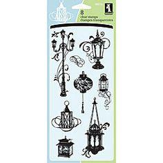 Inkadinkado: lanterns, clear stamps