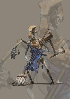 Dark and Day: Samuel the bard bot by nJoo on deviantART