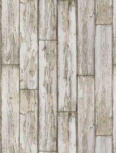 Peeling Planks, a feature wallpaper from Clarke and Clarke, featured in the Wild Garden collection.