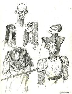 watching Game of Thrones. i have a lot of pages i need to scan so many great characters and costumes. Art by Timothy J. Lamb