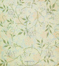 Jasmine wallpaper, by William Morris. England, 1872