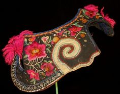 Chinese Yi people's old hand embroidery hat