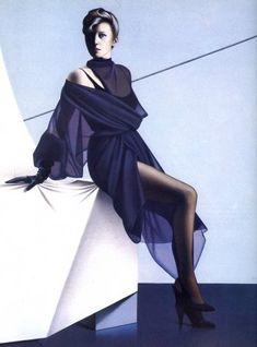 Azzedine Alaïa, Illustration by Gérard Failly for Vogue France, Fall/Winter 1984