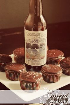 ESB Chocolate with Salted Caramel beer cupcakes by Sweet and Stout Cupcake Co. in Spokane, Wash. We're having these at our wedding reception and they are to. die. for.