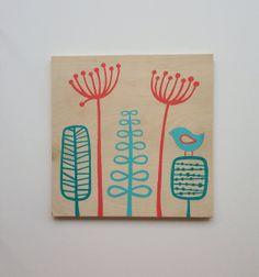 Original Aqua Coral Nursery Art Coral Aqua by SweetBananasArt