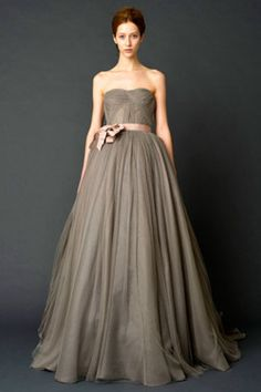 Vera Wang Bridal Fall 2011 - I aways wanted a taupe wedding dress... and Vera Wang too... I need to get married again