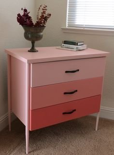 Ombre made easy-- just use your paint chip and pick gradations according to how many drawers you have- easy peasy!  :)