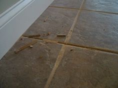 First Remove the old grout
