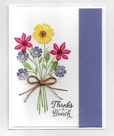 The card - stamped images are from SU. I'm a big fan of flower stamps and this new one from SU is...