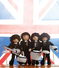 """Amigurumi Beatles Free Pattern ( download PDF _ """"Fabfour.pdf"""" and """"Instrument"""" pattern for separate)"""
