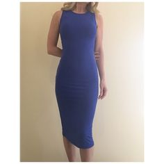 The Classic Sleeveless Dress This classic and sophisticated piece will suit any occasion! Dress it up, layer it or simply wear it as is! It's form fitting with some stretch. Runs TTS.   BNWT High neck Sleeveless Form fitting throughout Royal Blue Polyester/spandex ***Size small pictured  NO Trade/Hold/PayPal YES Bundles Create your own no hassle bundle! 20% off 2+ items  Follow me on Instagram @thesassyconnection Boutique Dresses Midi