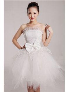 モダンなプリンセススカエッジのウェディングドレス