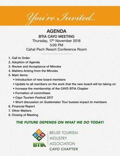BTIA Cayo November Meeting