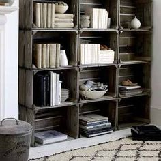 Shelves from crates by etta