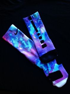 "Nike ""Lightyear/Galaxy"" Elite Socks  I WANT THESE SO BAD!!! AHHH"