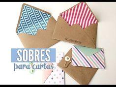 Como hacer SOBRES para cartas sin pegamento (origami) - YouTube